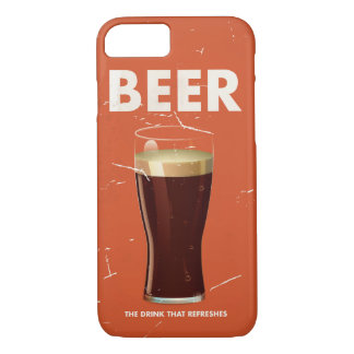 Vintage Beer Commercial poster. iPhone 8/7 Case