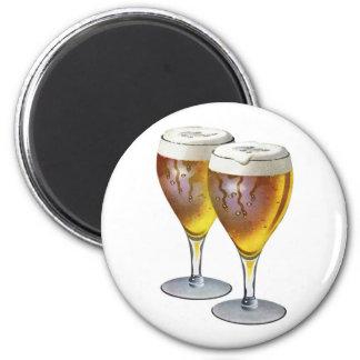 Vintage Beer Glasses Beer Drinker Healthy Drink 6 Cm Round Magnet