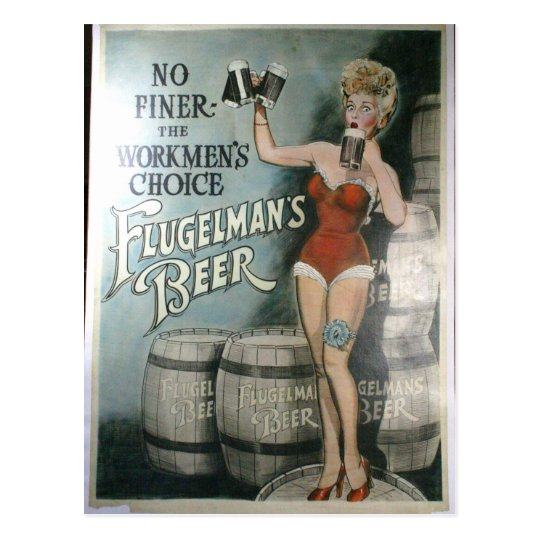 Vintage beer poster, No finer the workmen's choice Postcard