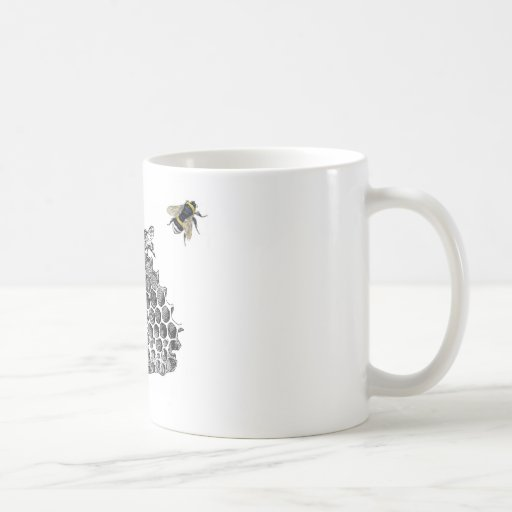 Vintage Bees Basic White Mug