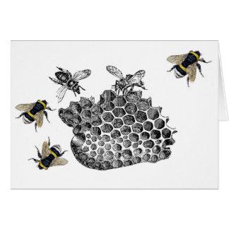 Vintage Bees Greeting Card