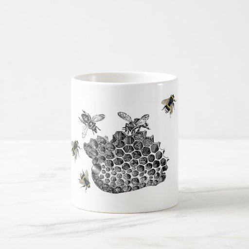 Vintage Bees Mugs