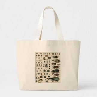 Vintage Beetle Illustration Tote Bag