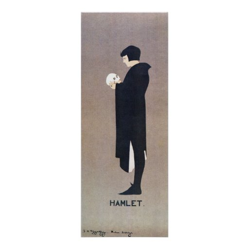Vintage Beggarstaffs Hamlet vertical banner Posters