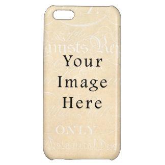 Vintage Beige Cream Script Text Parchment Paper iPhone 5C Case