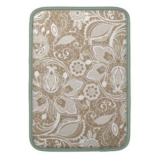 Vintage Beige Lace Pattern MacBook Air Sleeves
