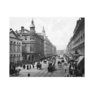 Vintage Belfast print, Royal Avenue, c1904 Canvas Print