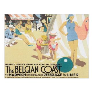 Vintage Belgian Coast Belgium Postcard