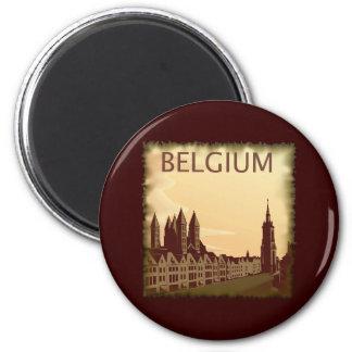 Vintage Belgium 6 Cm Round Magnet