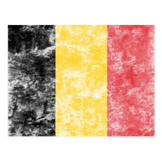 Vintage Belgium Flag Postcard