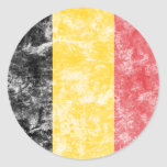 Vintage Belgium Flag Stickers