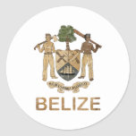 Vintage Belise Round Stickers