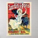 vintage belle epoque jardin de Paris night party Poster