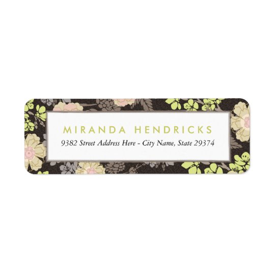 Vintage Belsay Floral Return Address Labels