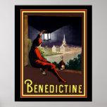 Vintage Benedictine Cognac Ad by Cappiello 16x20 Poster