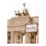 Vintage Berlin design Postcard