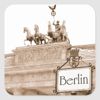 Vintage Berlin design Square Sticker