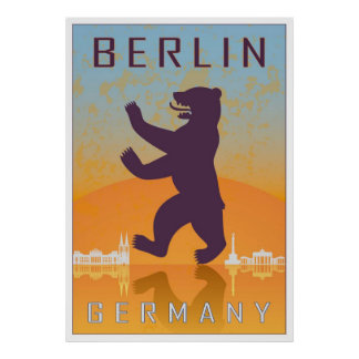 Vintage Berlin poster