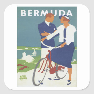 Vintage Bermuda Square Sticker