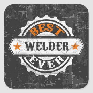 Vintage Best Welder Square Sticker
