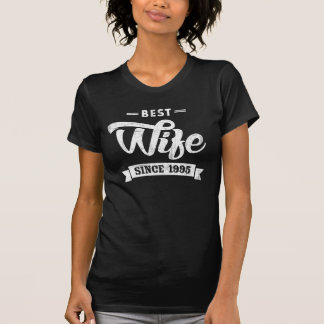 Vintage Best Wife Since 1995 T-Shirt