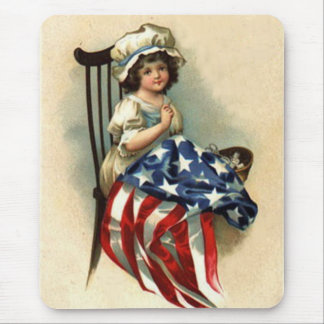 Vintage Betsy Ross Kid (multiple products) Mouse Pad