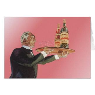 Vintage Beverages Butler Drinks Glasses Wine Cards