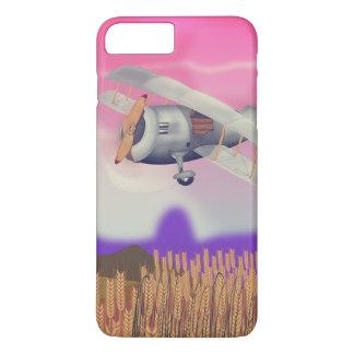 Vintage Bi-Plane Flying over crops iPhone 7 Plus Case
