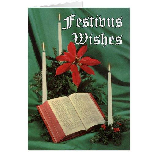 Vintage Bible Festivus Card