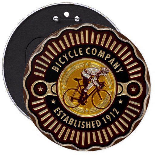 Vintage Bicycle 11 Buttons