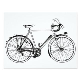 Vintage Bicycle 11 Cm X 14 Cm Invitation Card