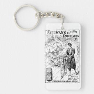 Vintage bicycle advert keychain