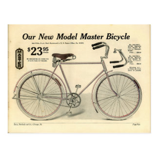 Vintage Bicycle Advertisement Postcard