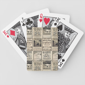 Vintage Bicycle Advertising Collage Bicycle Playing Cards