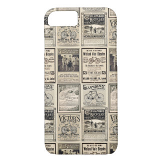 Vintage Bicycle Advertising Collage in Sepia Tones iPhone 7 Case