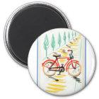 Vintage Bicycle Art Magnet