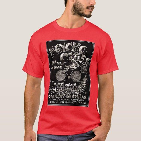 Vintage Bicycle Art: Psycho Cycles T-Shirt