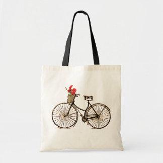 Vintage Bicycle Budget Tote Bag