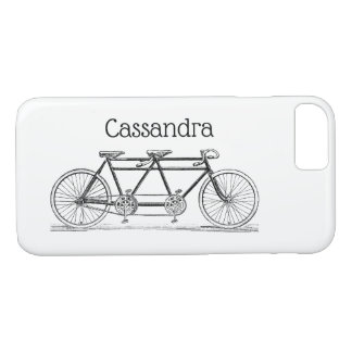 Vintage Bicycle Built For Two / Tandem Bike iPhone 8/7 Case