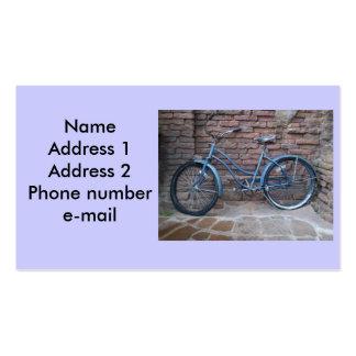 Vintage bicycle business card.
