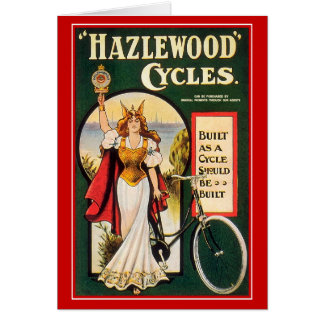Vintage Bicycle Card: Hazlewood Cycles Greeting Card