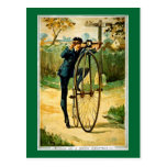 Vintage Bicycle Christmas Card Postcard