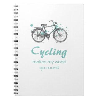 Vintage Bicycle Drawing Spiral Notebook