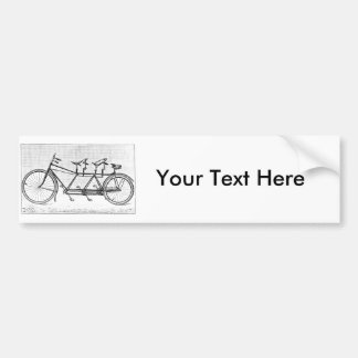Vintage Bicycle for Three Victorian Bicycles Bumper Sticker