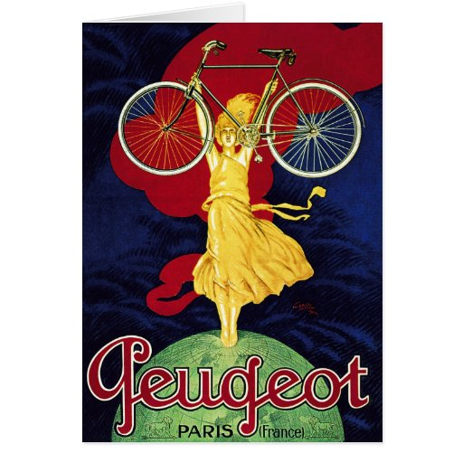 Vintage Bicycle Gifts - Cycles Peugeot Cards