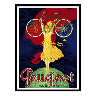 Vintage Bicycle Gifts - Cycles Peugeot Postcard