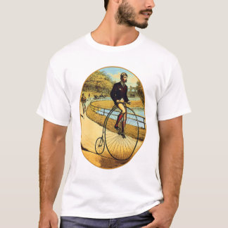 Vintage Bicycle High Wheeler Penny Farthing T-Shirt