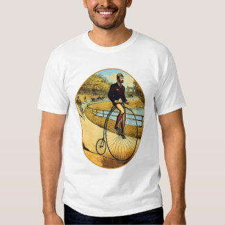 Vintage Bicycle High Wheeler Penny Farthing Tshirt