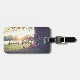 Vintage Bicycle in Sunny Day Luggage Tag