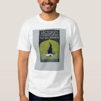 Vintage Bicycle Lady & Dog T Shirts
